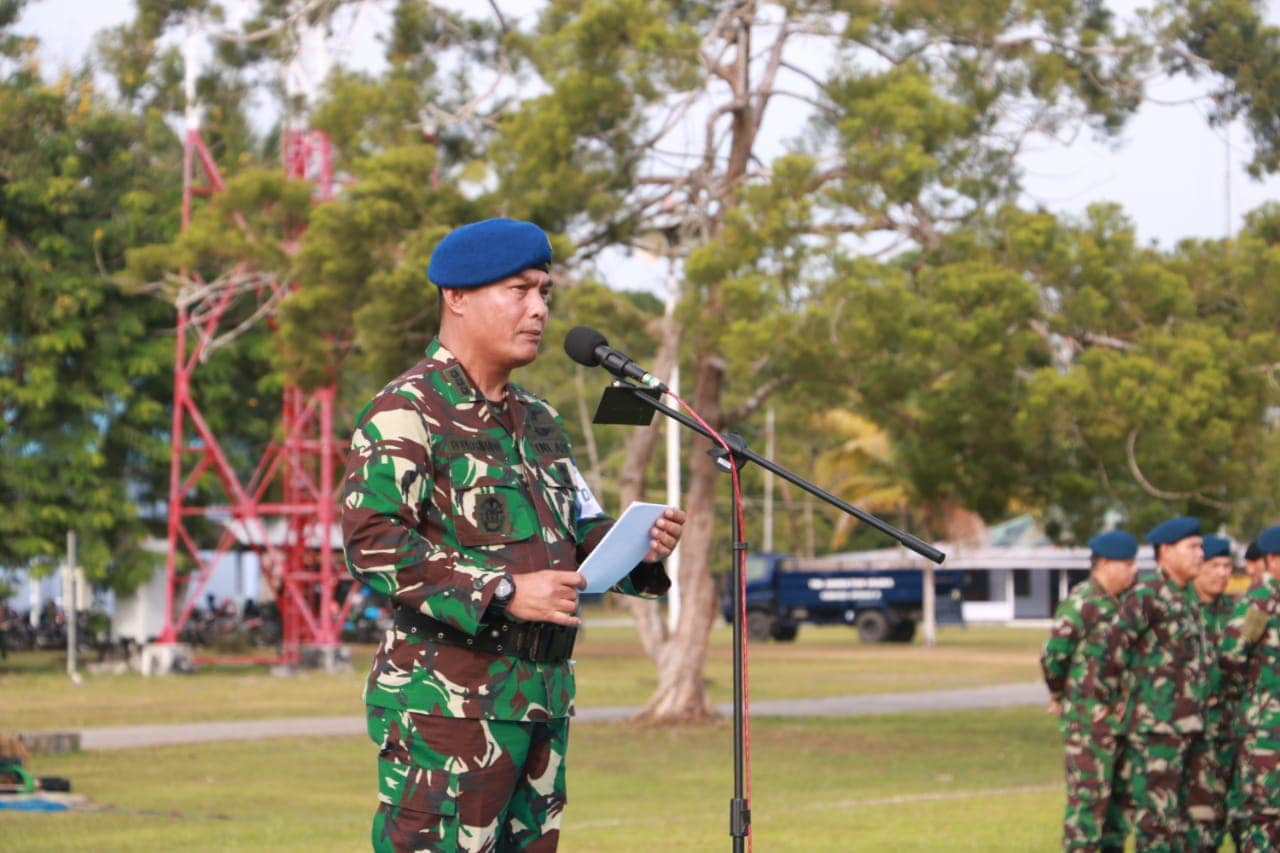 Personel Lanud Manuhua Ikuti Upacara Pembukaan Pelatihan Pengamanan Pemilu 2019