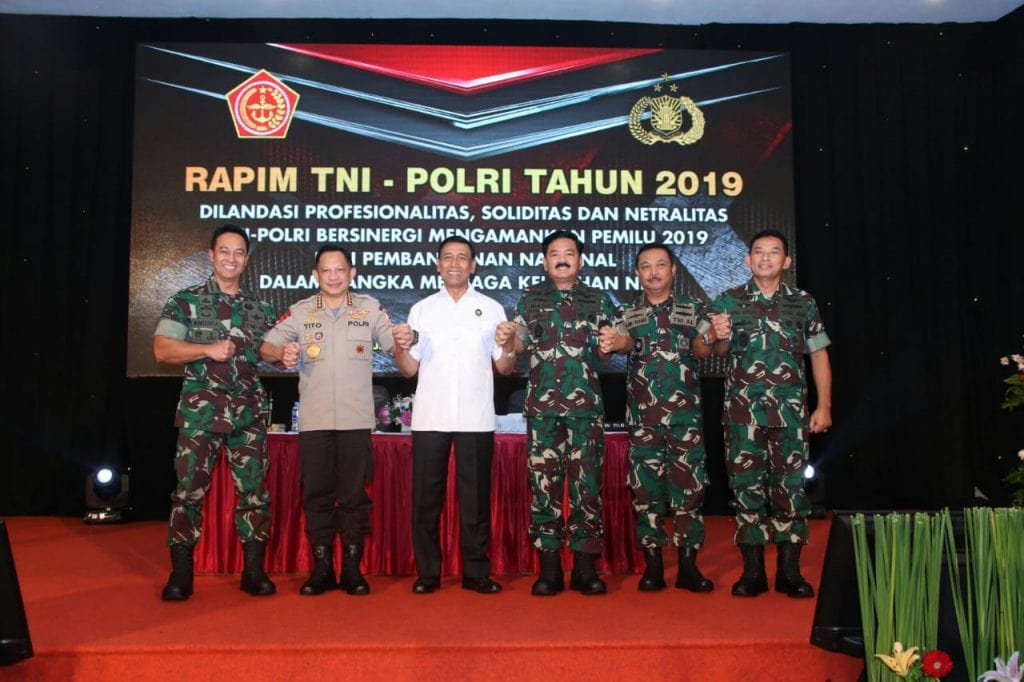 Kasau Ikuti Rapim TNI-Polri 2019
