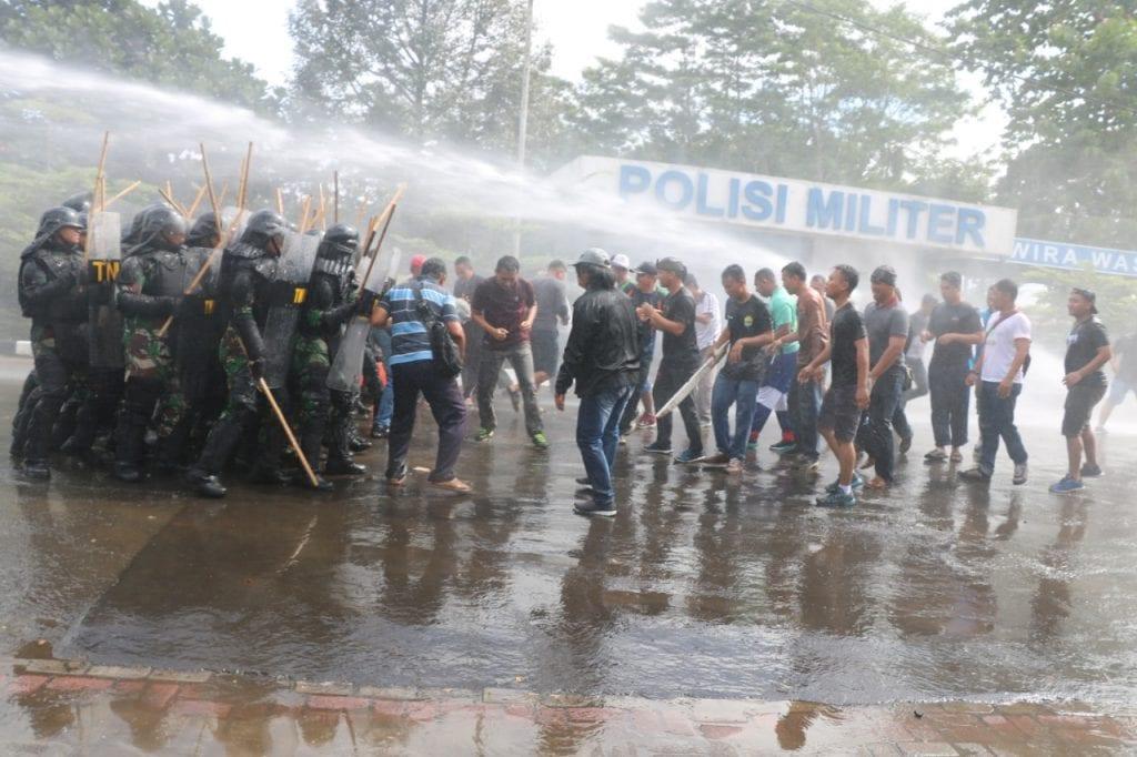 Kelompok Demonstrasi Berhasil Diatasi Pasukan PHH Lanud Atang Sendjaja