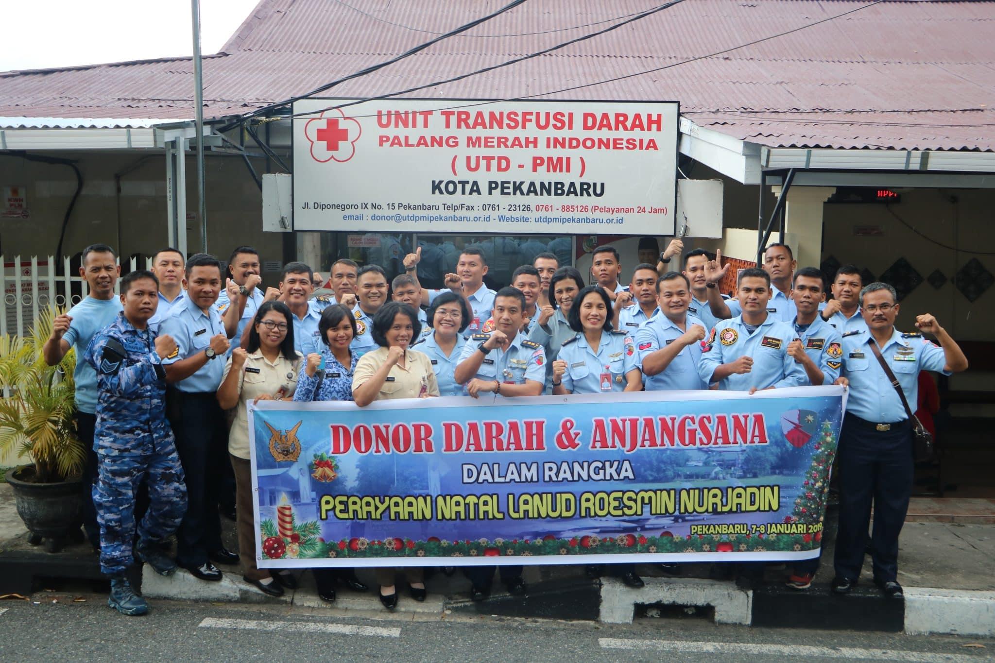 Donor Darah umat Kristiani Lanud Rsn