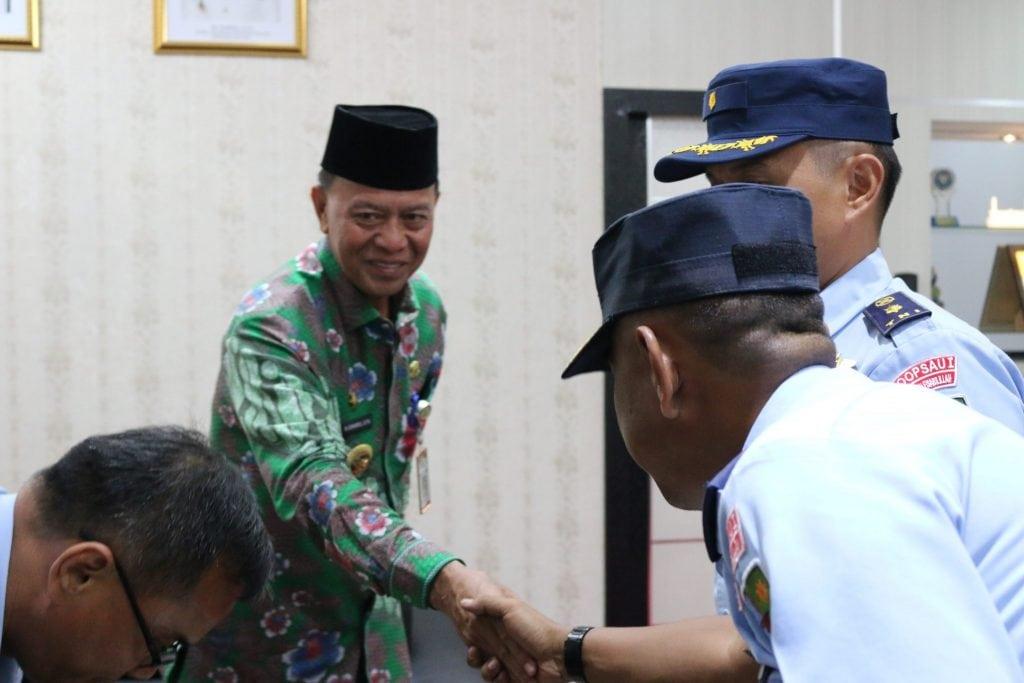 Eratkan Tali Silaturahmi, Danlanud RHF Kunjungi Pemerintah Kota Tanjungpinang