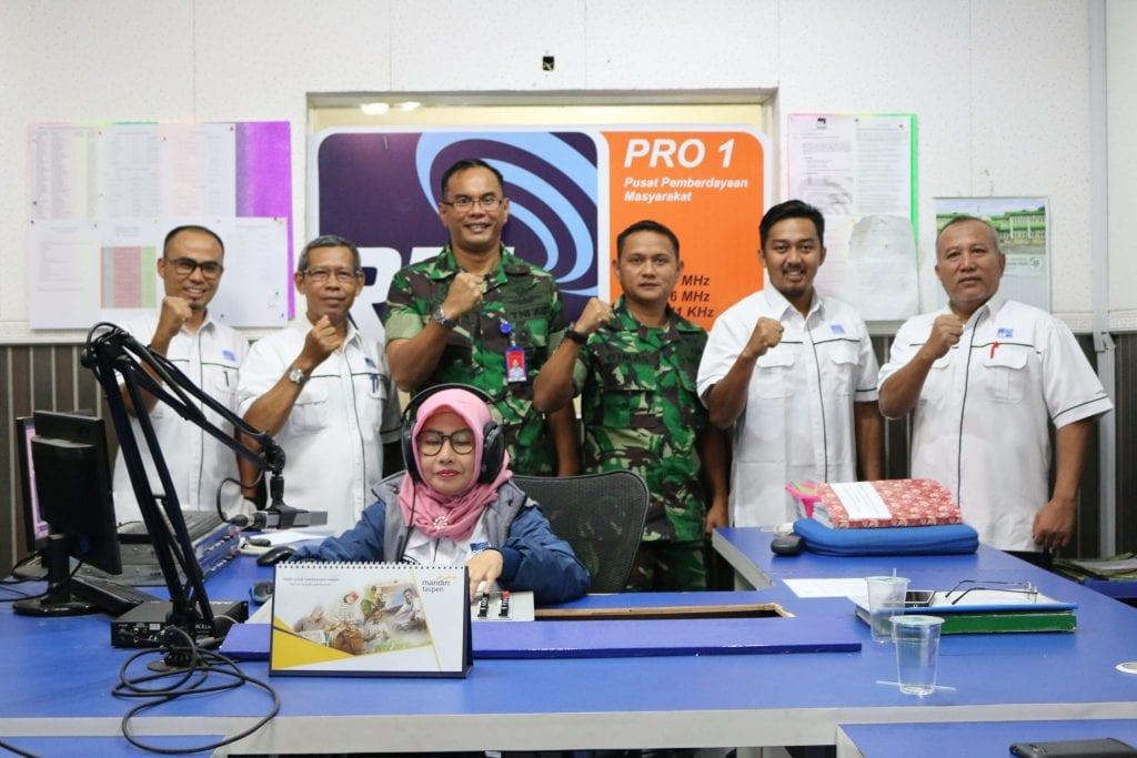 Danlanud RHF Sosialisasikan Pembukaan Calon Tamtama & Bintara Melalui Dialog Interaktif di RRI