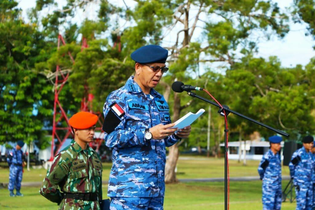 Keluarga Besar TNI AU di Biak Laksanakan Upacara Gabungan