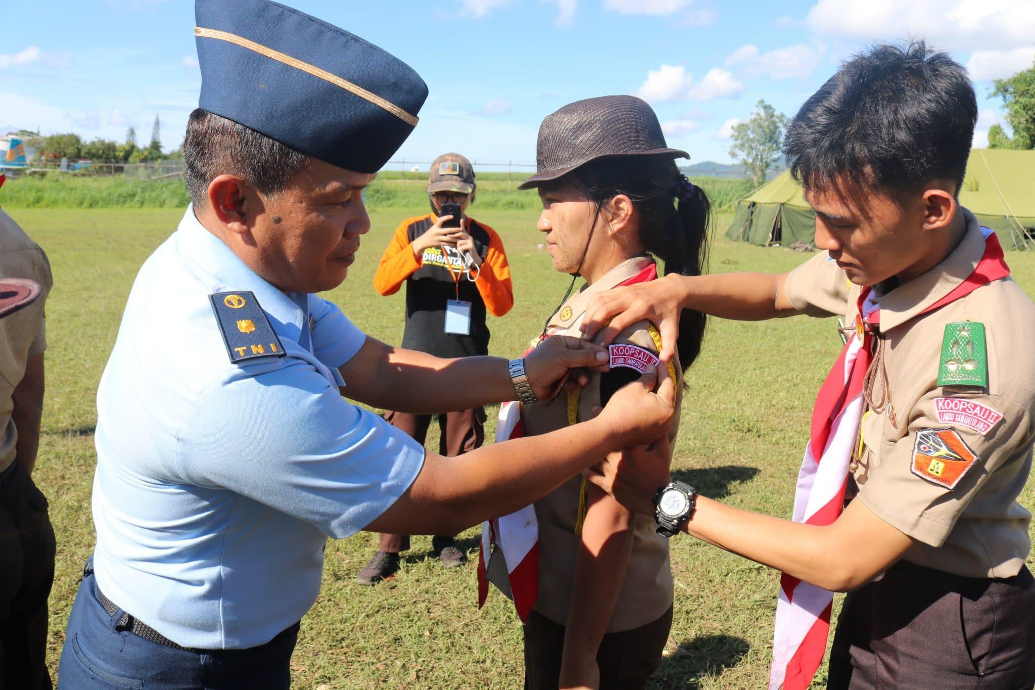Perkemahan Pengambilan Badge Saka Dirgantara di Lanud Sam Ratulangi 2019