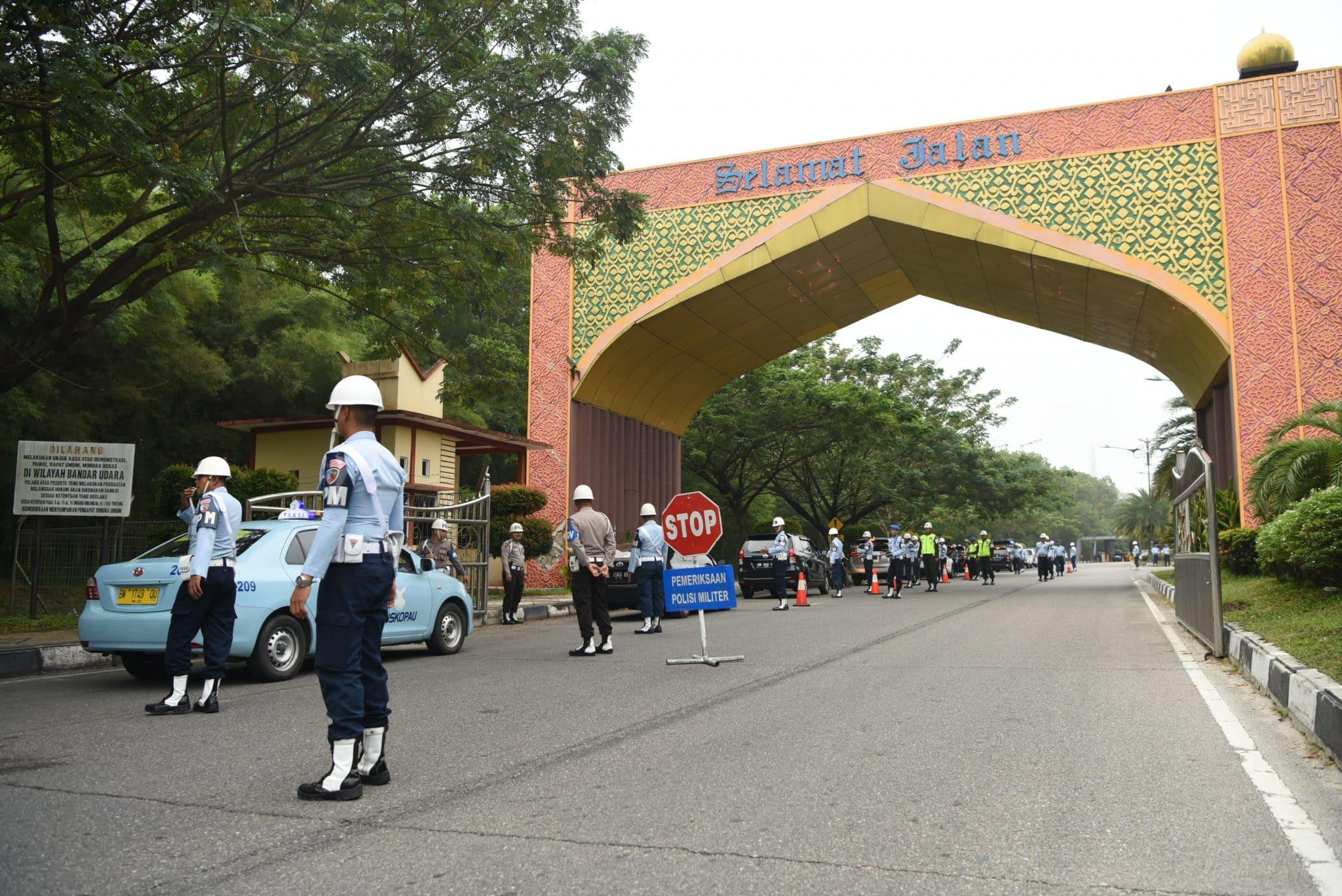 POMAU Bersama Kepolisian Gelar Ops Gaktip di Bandara SSK II Pekanbaru