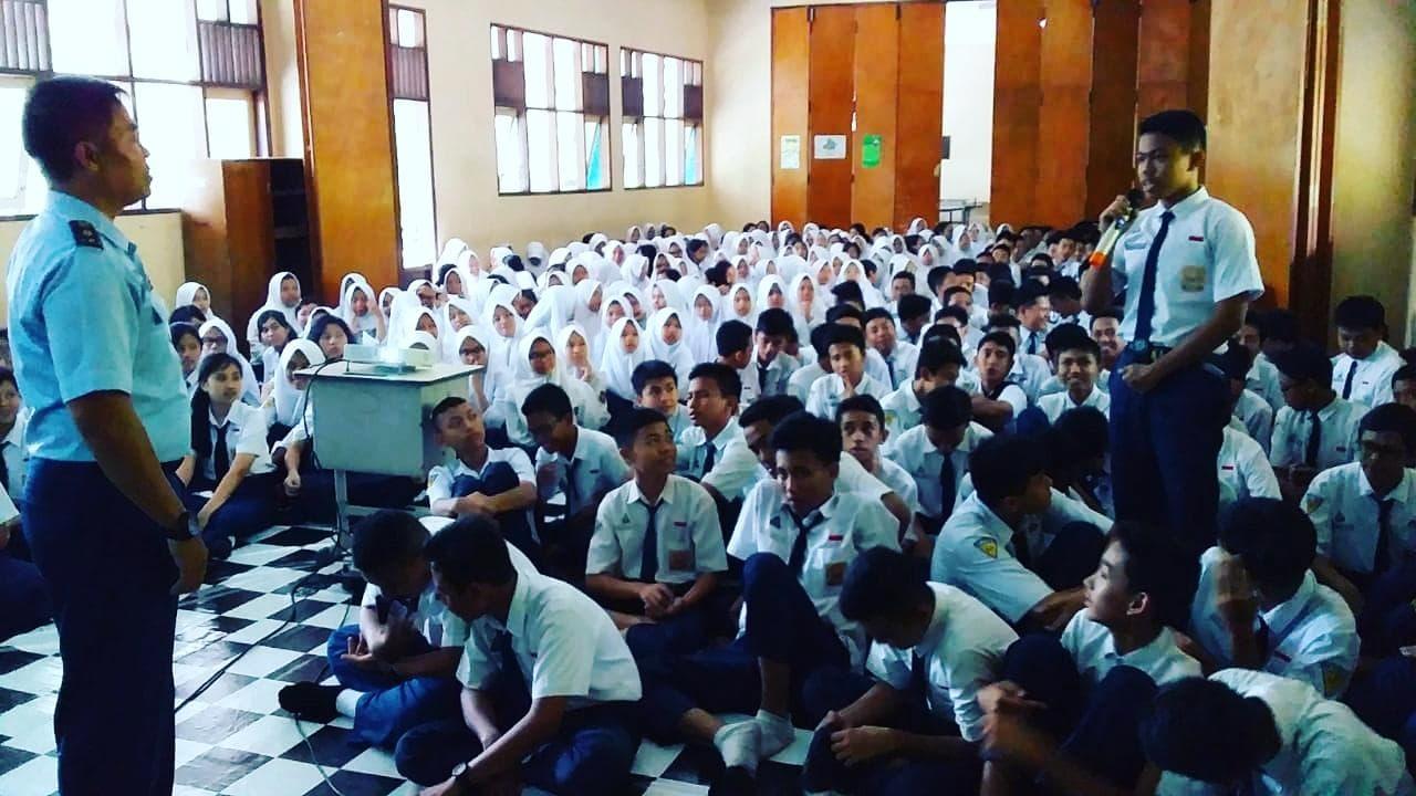 Lanud Abdulrachman Saleh Menggelar Sosialisasi SMA Pradita Dirgantara di SMP N 5 dan SMP N 1 Malang