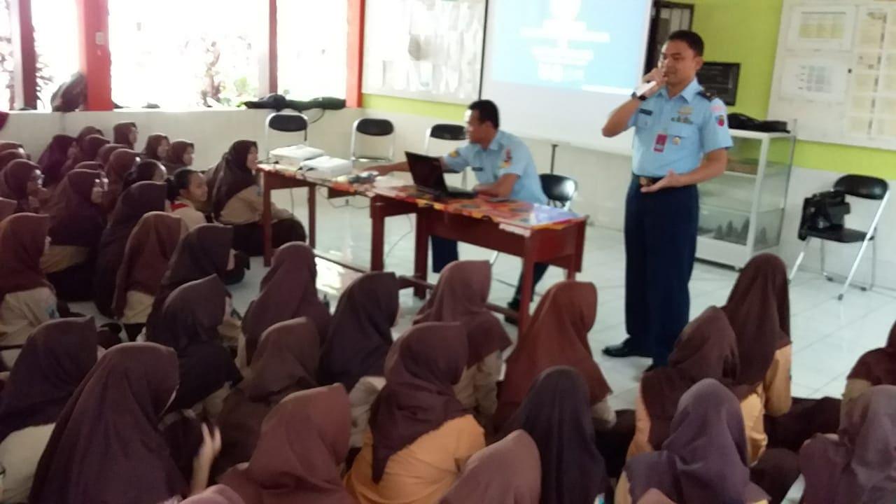 Hari Ke-5, Lanud Abd Saleh Menggelar Sosialisasi SMA Pradita Dirgantara di SMP N 20, dan SMP N 3 Malang