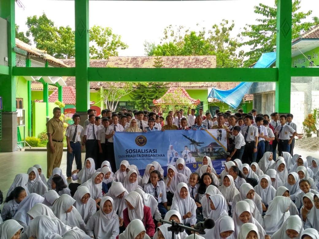 Lanud Adisutjipto Sosialisasikan SMA Pradita Dirgantara di 34 SMP Unggulan di Yogyakarta