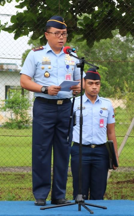 Komandan Lanud Dominicus Dumatubun Pimpin Apel Khusus Awal Tahun 2019