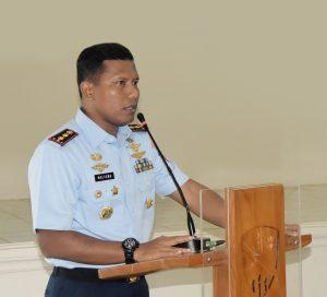 Danlanud Pangeran M. Bun Yamin Memberi Penekanan tentang Netralitas dalam Pemilu Kepada Anggota