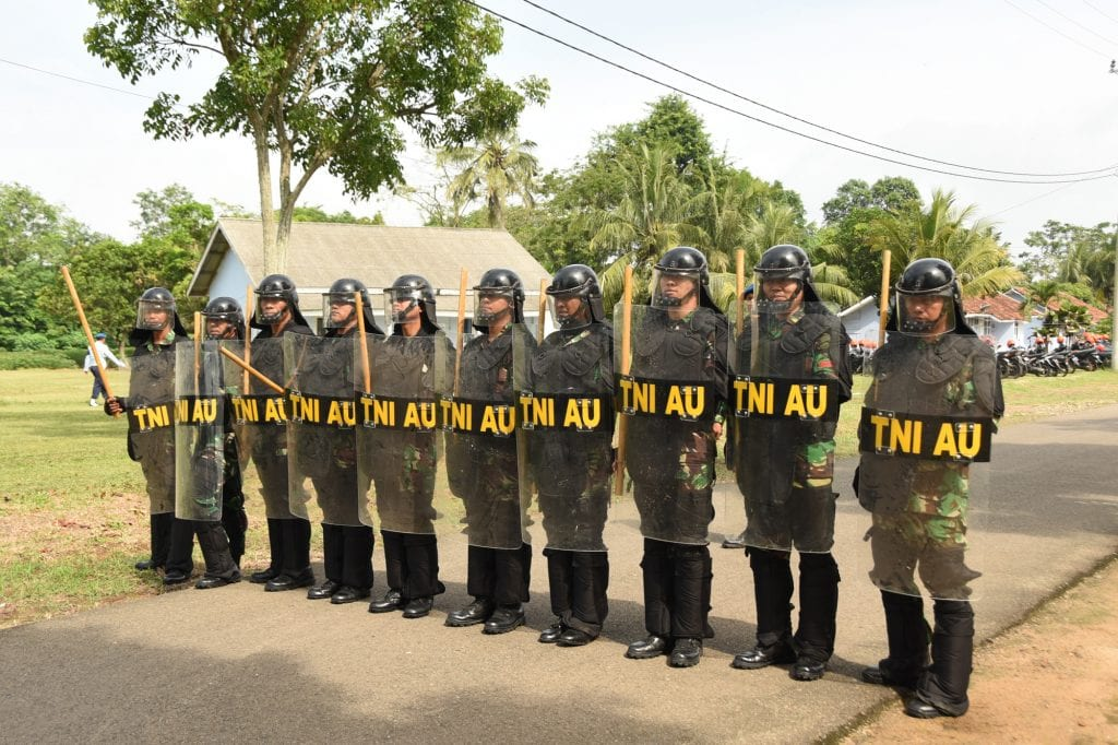 Latihan Pengamanan Pemilu Legislatif dan Presiden 2019 di Lanud Pangeran M. Bun Yamin