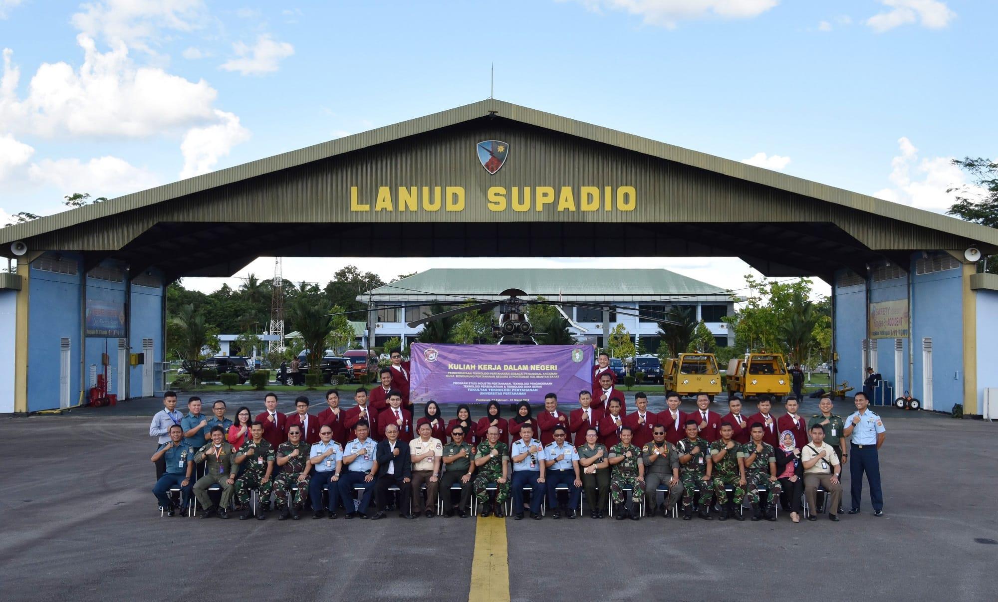 Mahasiswa Unhan KKDN di Lanud Supadio