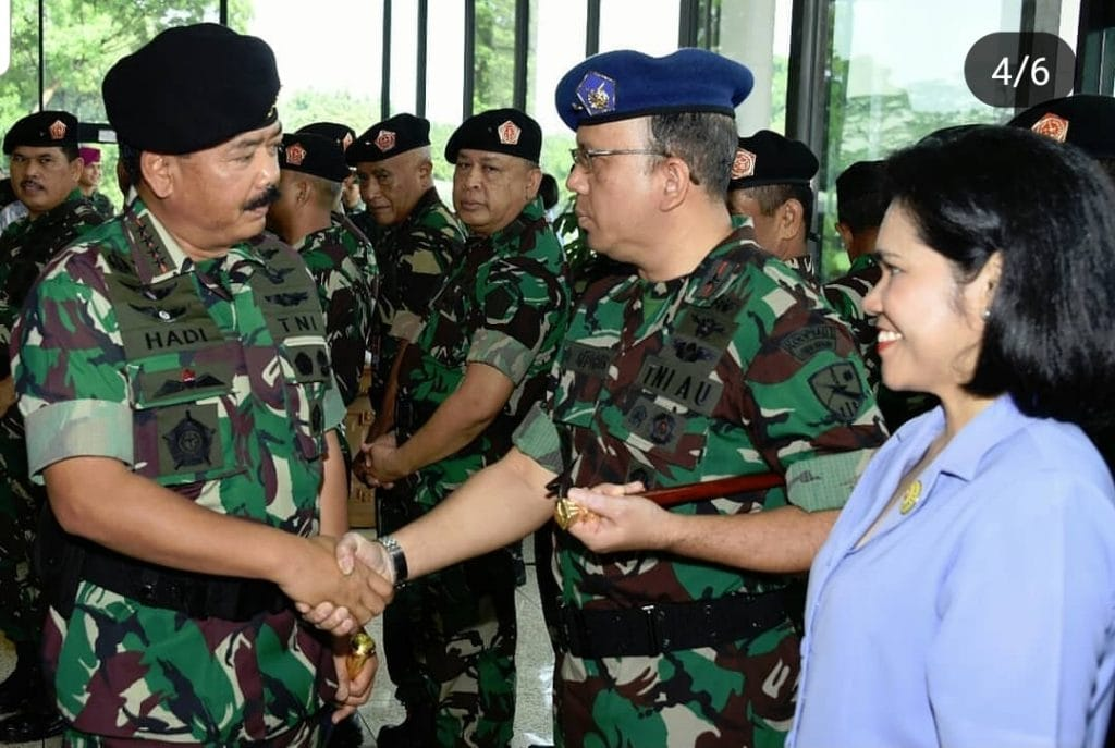Danlanud Supadio Naik Pangkat Menjadi Marsekal Pertama TNI