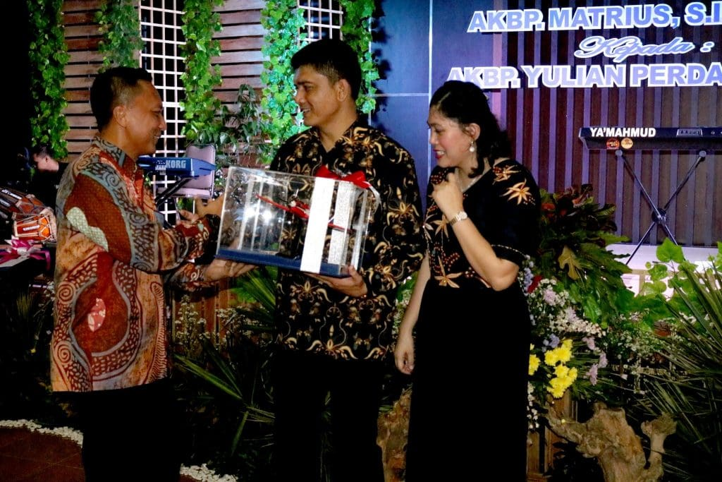 Komandan Lanud Wiriadinata Beserta Ibu Menghadiri Malam Kenal Pamit Kapolres Banjar