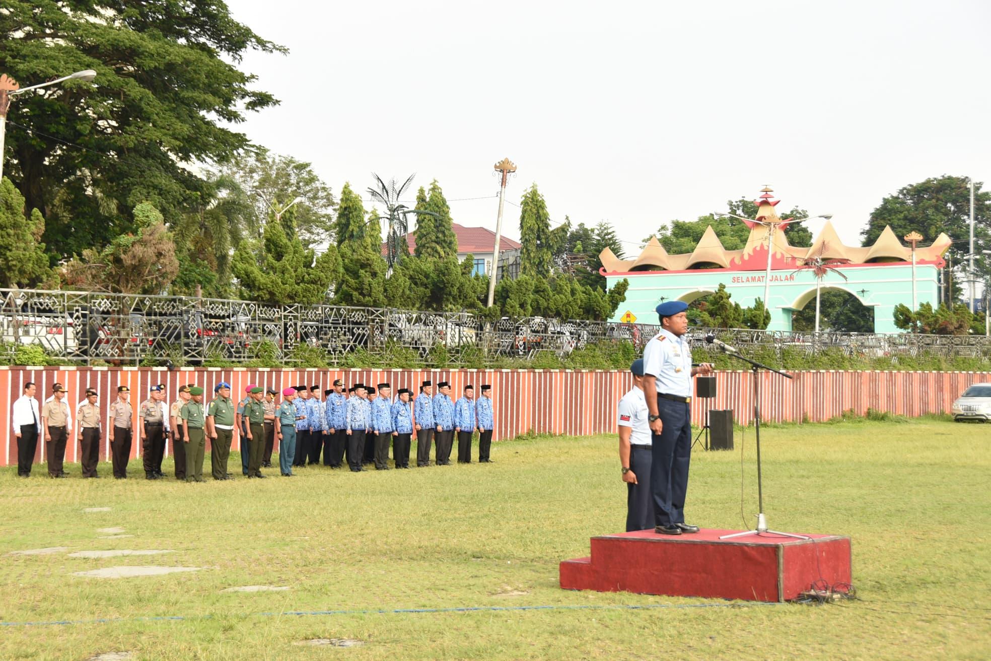 Pelaksanaan Upacara Bendera 17an di Provinsi Lampung