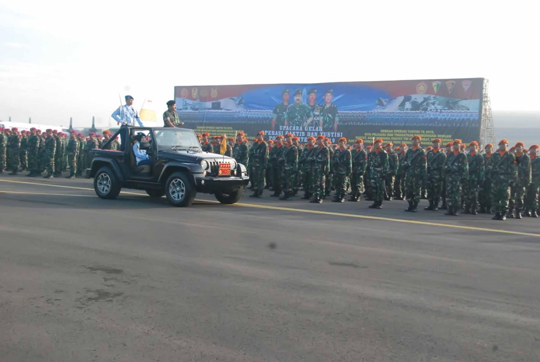 Dankorpaskhas beserta Prajurit Paskhas Hadiri Upacara Operasi Gaktib dan Yustisi 2019
