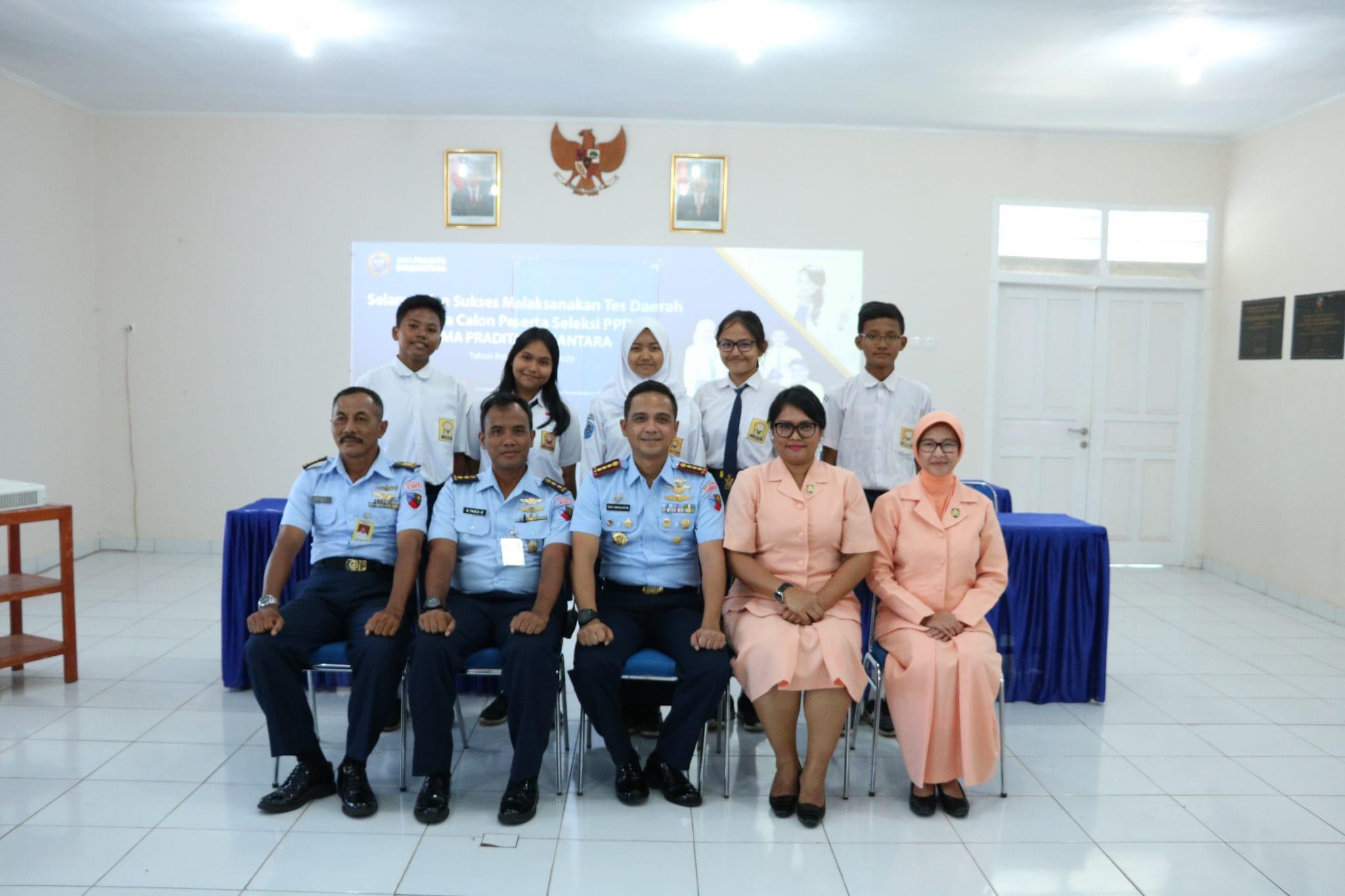 Lanud J.A.Dimara Gelar Seleksi PPDB SMA Pradita Dirgantara Tingkat Daerah
