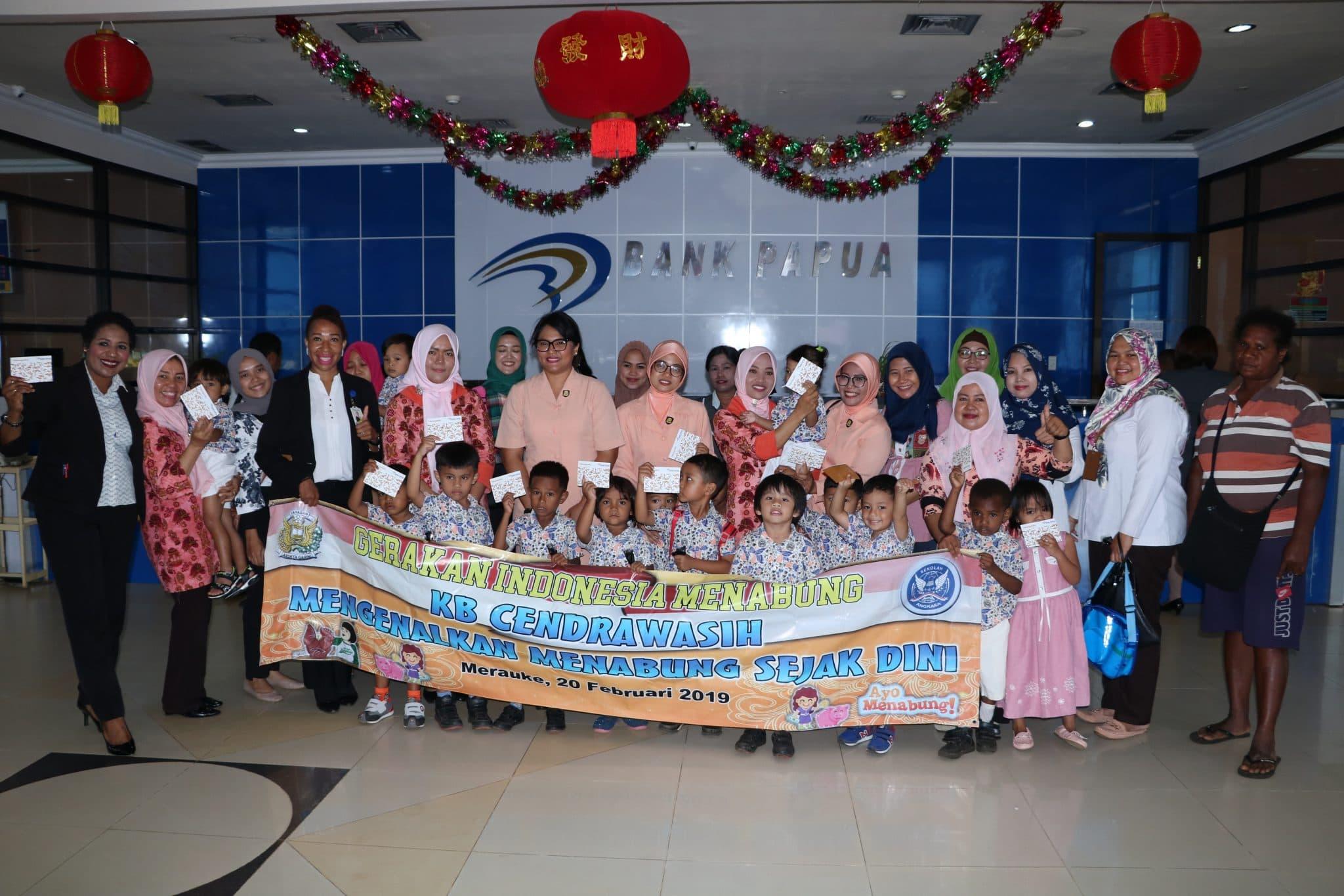 Gerakan Indonesia Menabung Sekolah Paud KB Cendrawasih Lanud J.A.Dimara