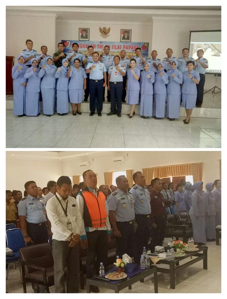 Komsos dan Bintahwil dengan Siswa Siswi SMA Penerbangan dengan Ceramah Hukum dan Bela Negara di Lanud Silas Papare