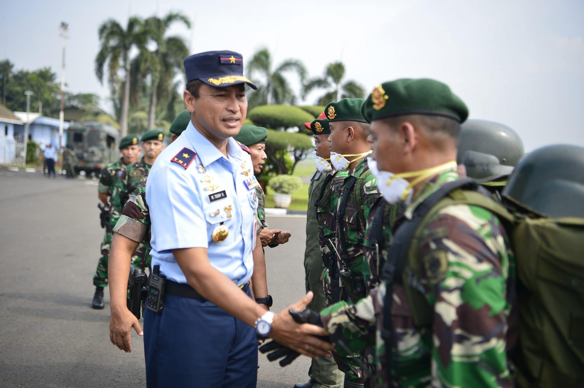 Bertolak dari Lanud Halim Perdanakusuma, Satgas Karhutla TNI Menuju Pekanbaru
