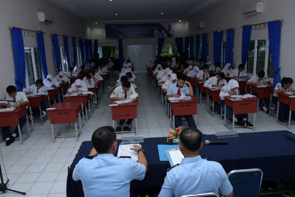 Lanud Raja Haji Fisabilillah laksanakan Tes Seleksi kepada 54 Calon Siswa SMA Pradita Dirgantara