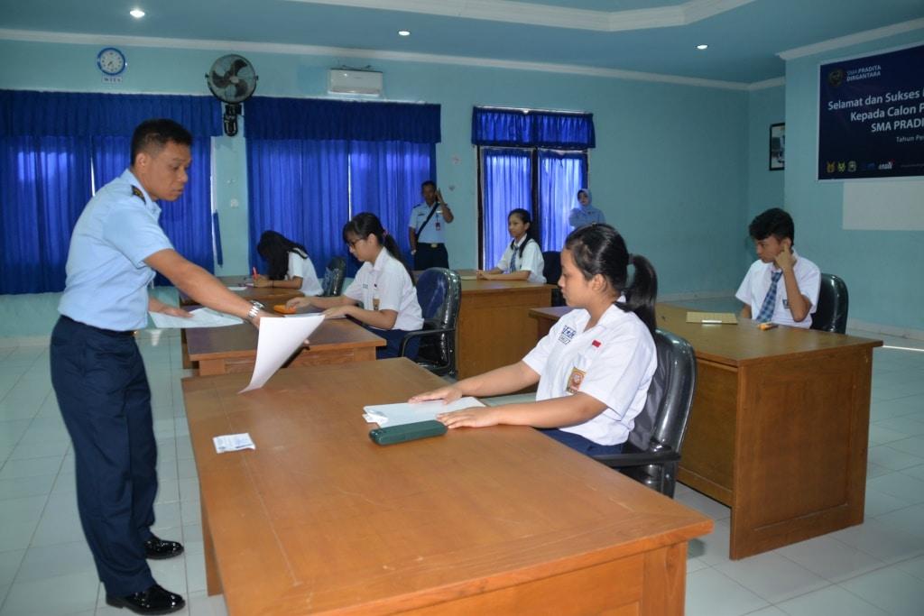 Pelaksanaan Tes Seleksi Daerah SMA Pradita Dirgantara