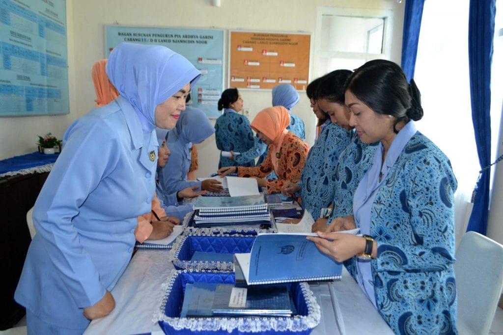 Kunjungan Kerja Ketua PIA AG Daerah II Koopsau II di Lanud Sjamsudin Noor