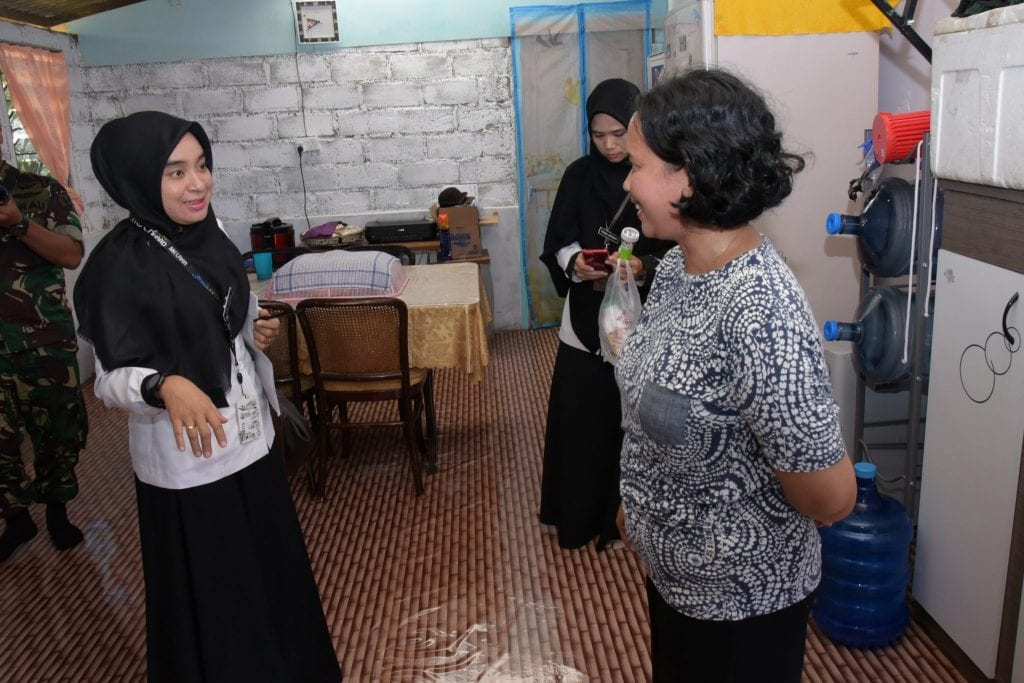 Lanud RHF Inspeksi Jentik Demam Berdarah di Rumah Prajurit
