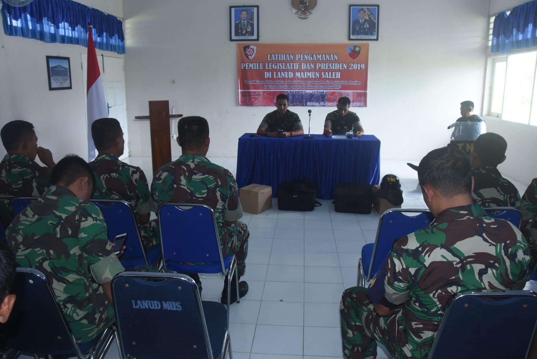 Latihan Pengamanan Pemilu Legeslatif Dan Presiden 2019