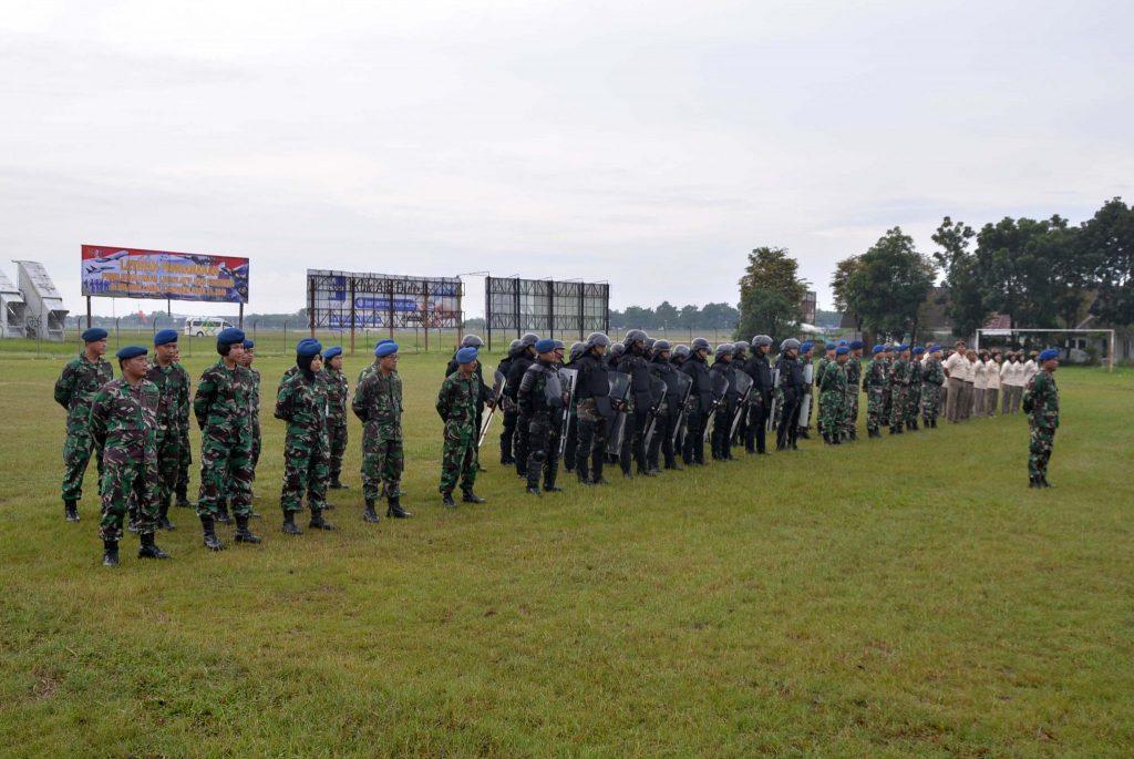 Lanud Sjamsudin Noor Gelar Apel Kesiapan dalam Rangka Latihan Pengamanan Pemilu Tahun 2019