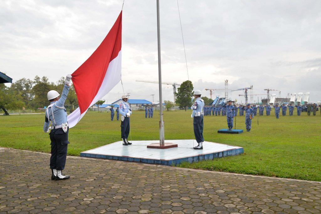 Upacara Bendera 17-an Bulan Februari 2019 di Lanud Sjamsudin Noor