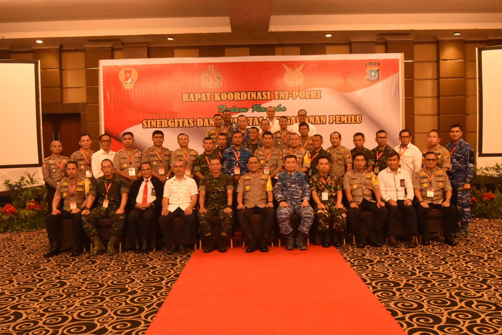 Danlanud Rsn Hadiri Rapat Koordinasi TNI-Polri dalam Rangka Pam Pemilu 2019