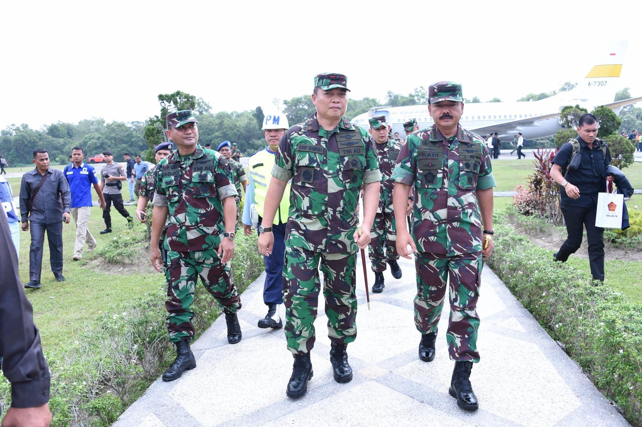 Danlanud Rsn Sambut Kedatangan Panglima TNI