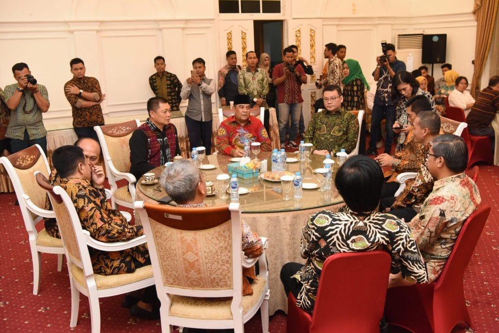 Danlanud Rsn Hadiri Pisah Sambut dan Syukuran Gubernur dan Wakil Gubernur Riau