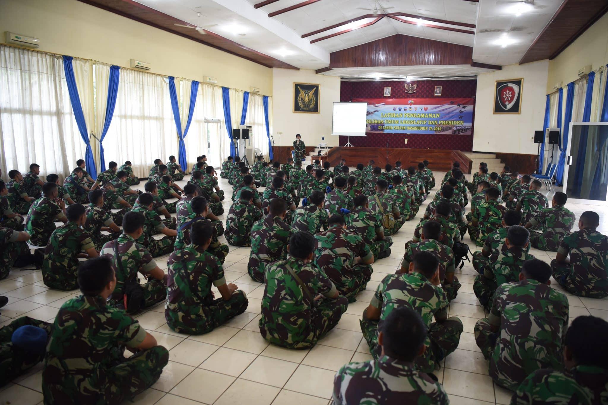 Lanud Hnd Gelar Latihan Pengamanan Pemilu 2019