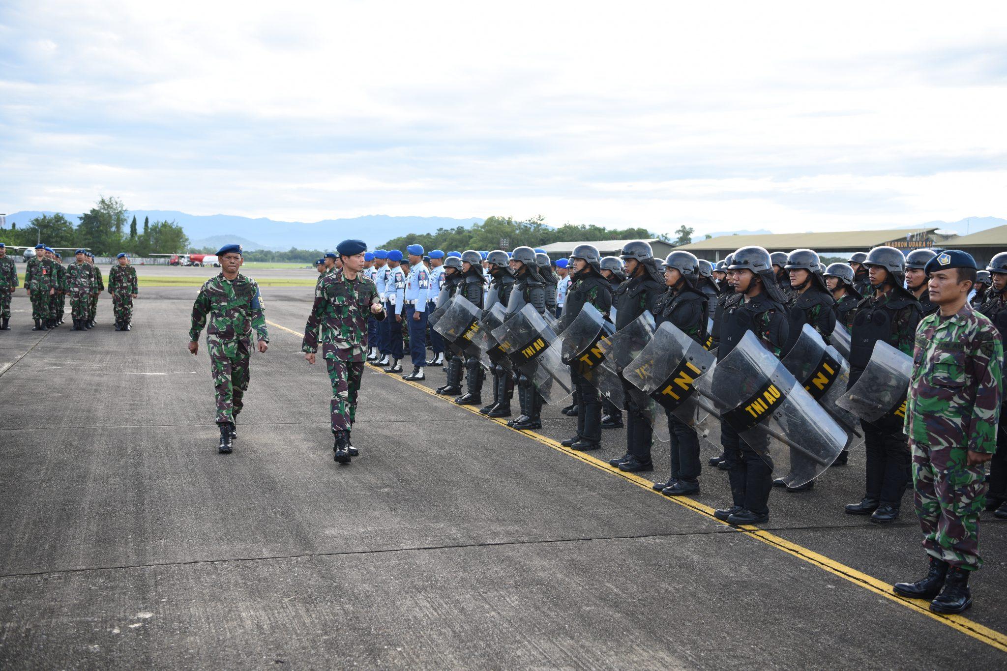 Danlanud Hnd Tutup Latihan Pengamanan Pemilu Legislatif dan Presiden 2019