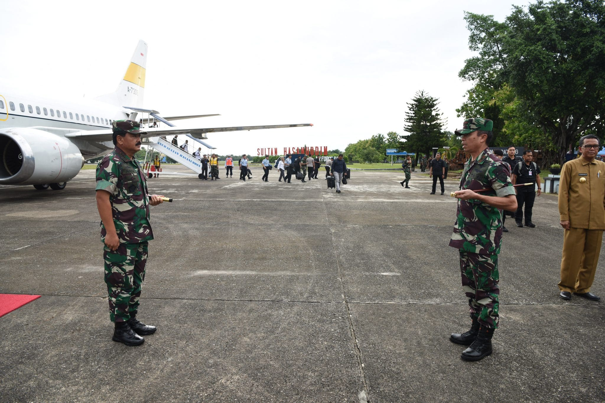 Komandan Lanud Sultan Hasanuddin Terima Kunjungan Panglima TNI