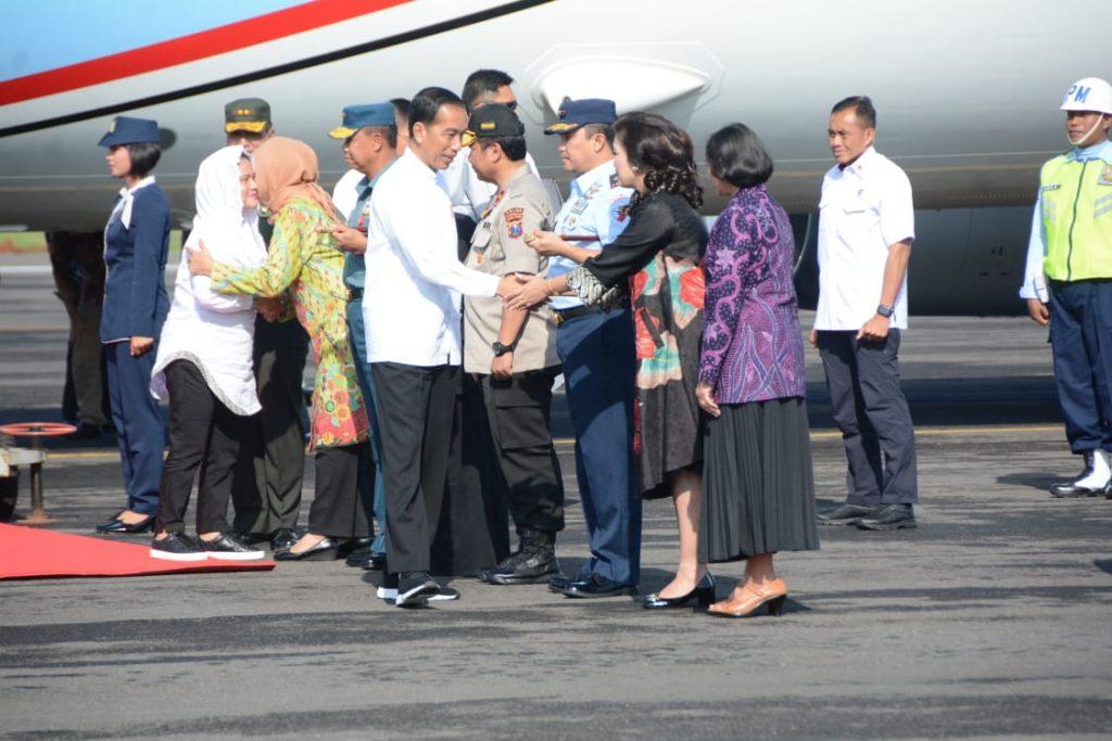 Danlanud Iswahjudi sambut Presiden Jokowi saat Kuker ke Wilayah Prop. Jatim