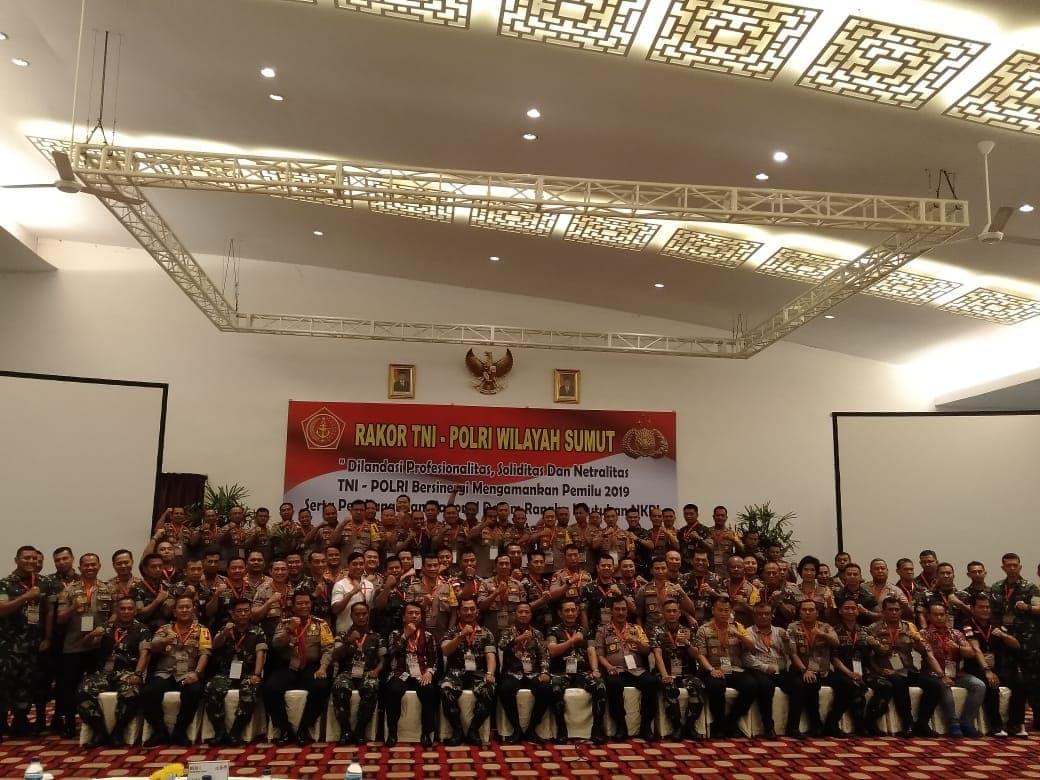 Danlanud Swo Hadiri Rakor TNI Polri Wilayah Sumatra Utara