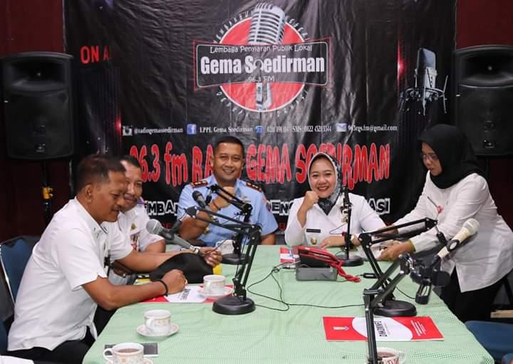 Danlanud J.B. Soedirman Dampingi Bupati Purbalingga dalam Dialog Interaktif di Radio Gema Soedirman