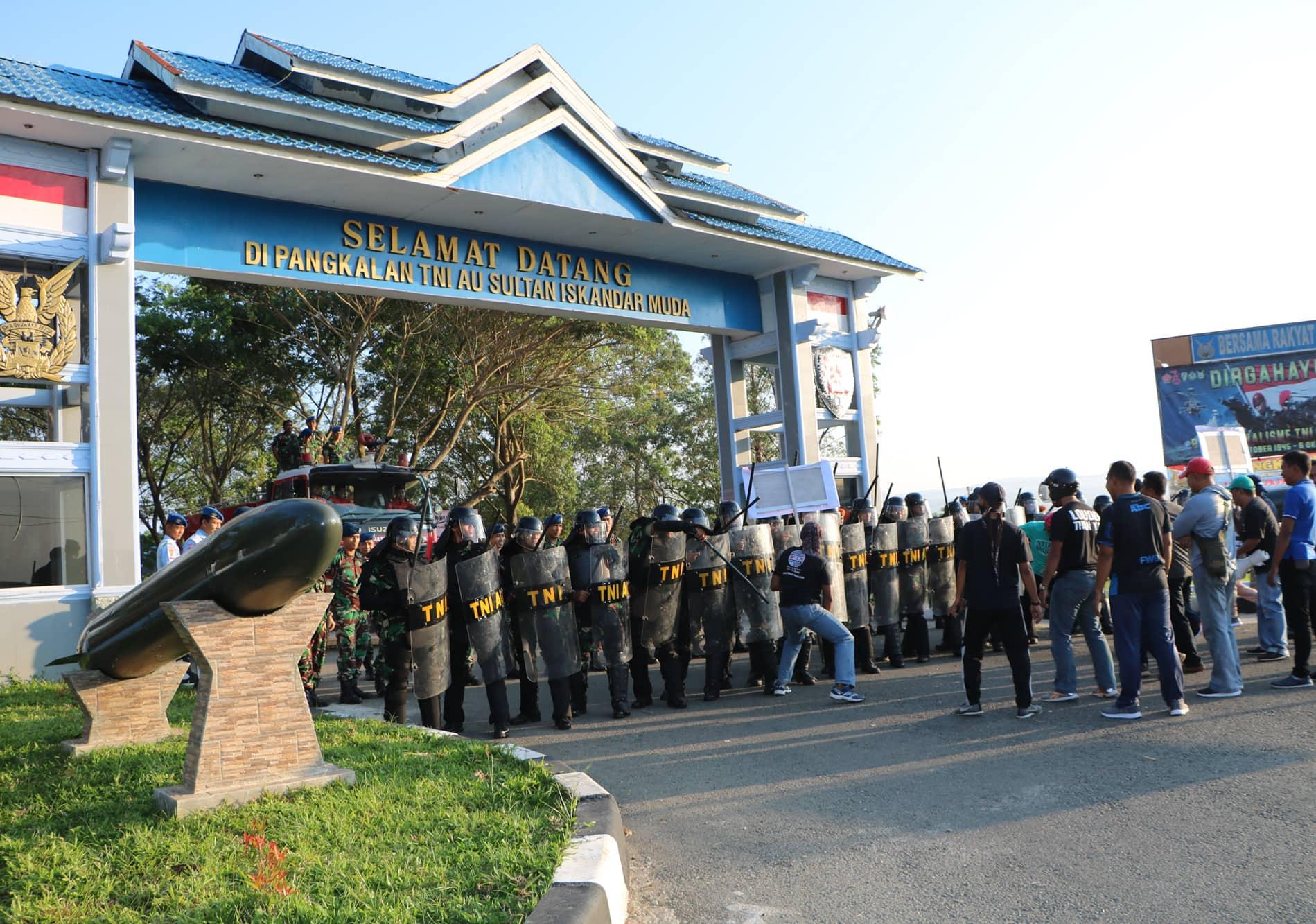 Antisipasi Pengamanan Pemilu Lanud Sim Gelar Latihan PHH