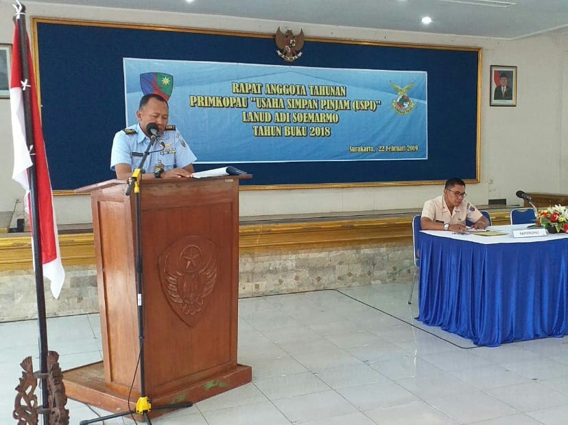 RAT Primkopau USPI Lanud Adi Soemarmo Tahun Buku 2018