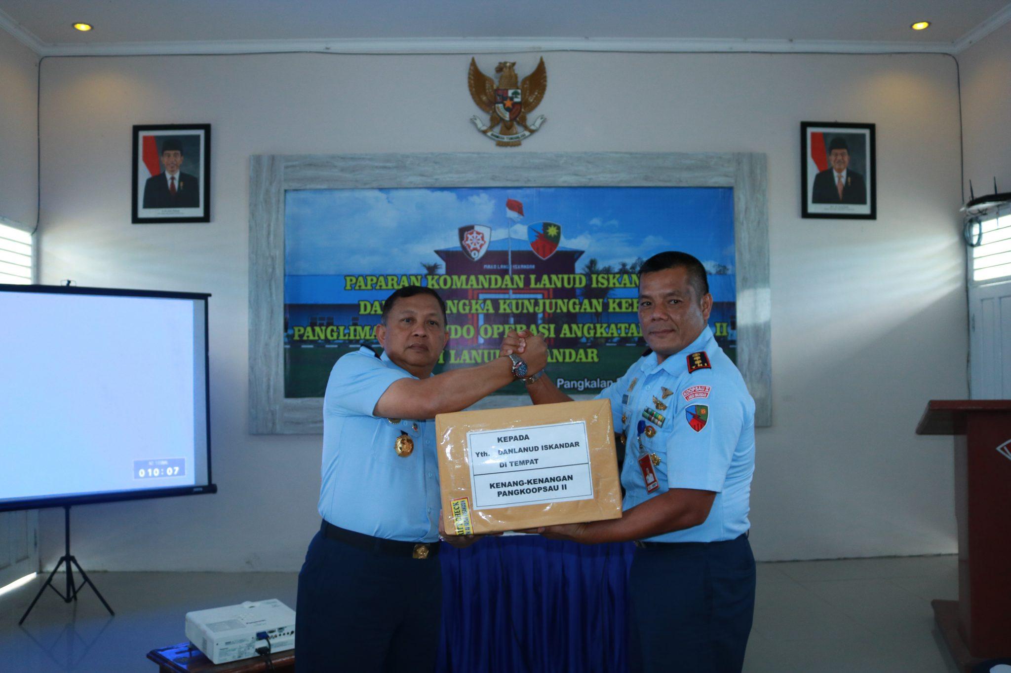 Kunjungan Kerja Pangkoopsau II di Lanud Iskandar