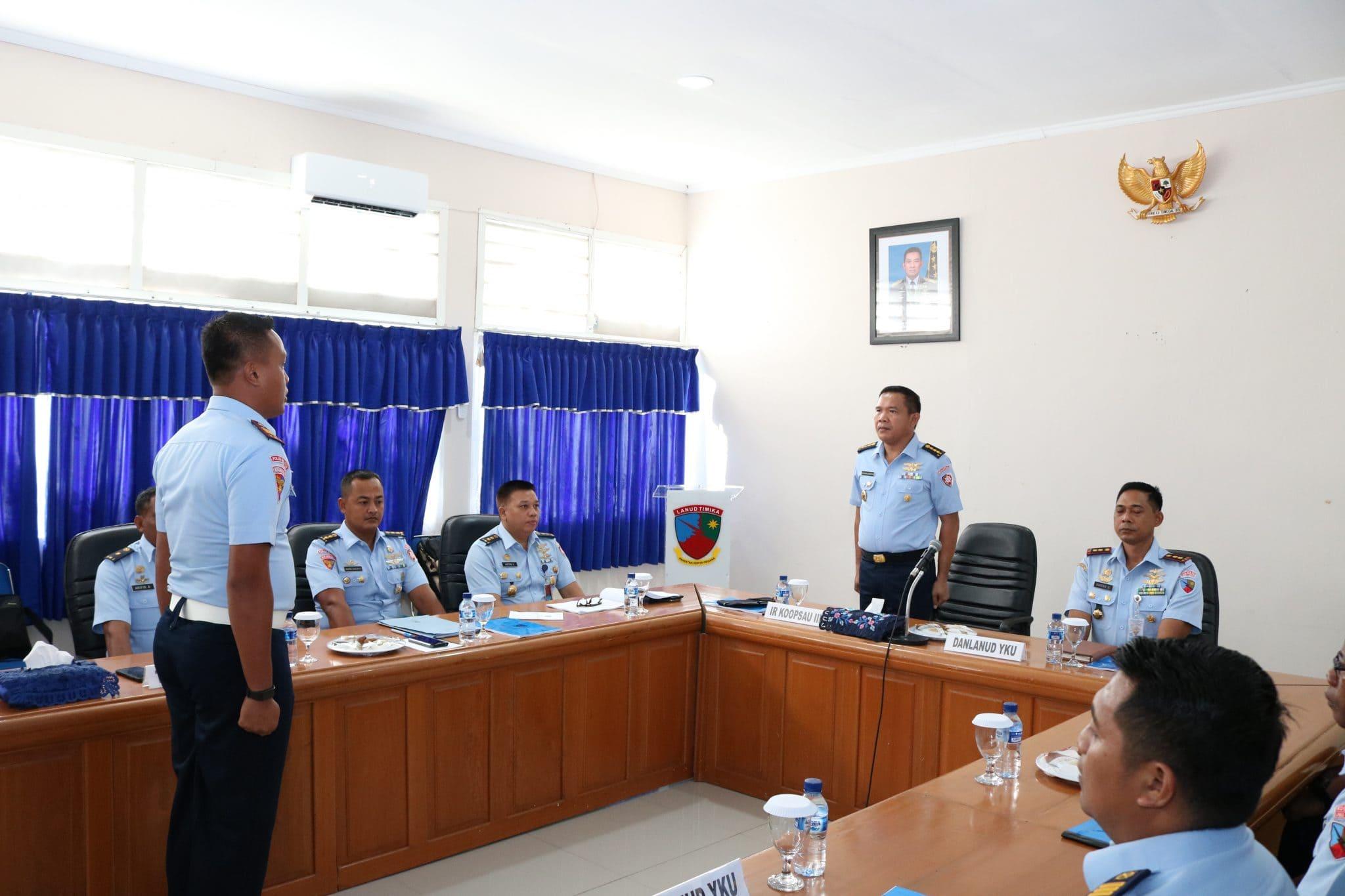 Entry Briefing Wasrikkap di Lanud Yohanis Kapiyau Timika