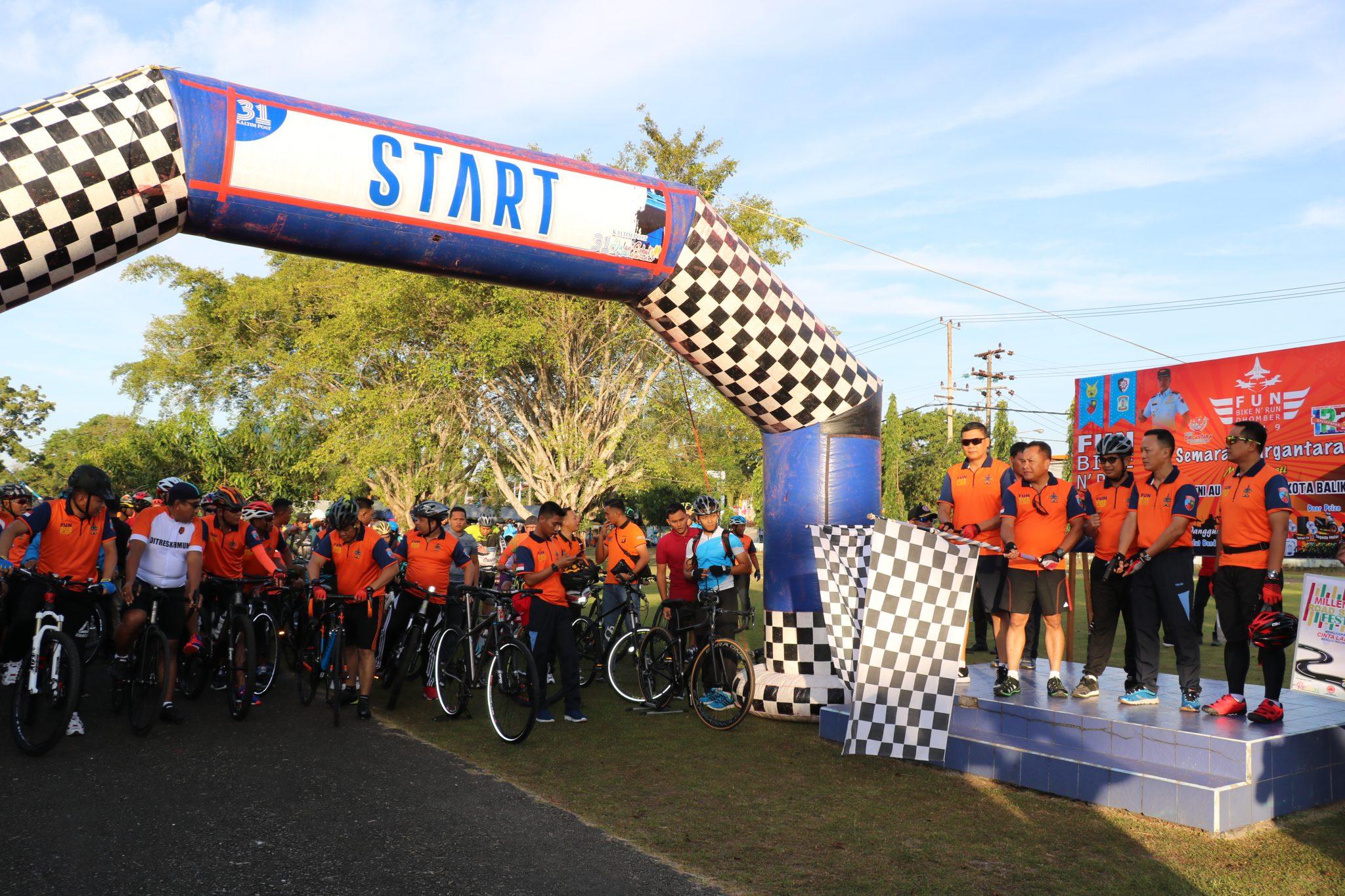 Lanud Dhomber Gelar Fun Bike dan Fun Run dalam Rangka Semarak Bulan Dirgantara