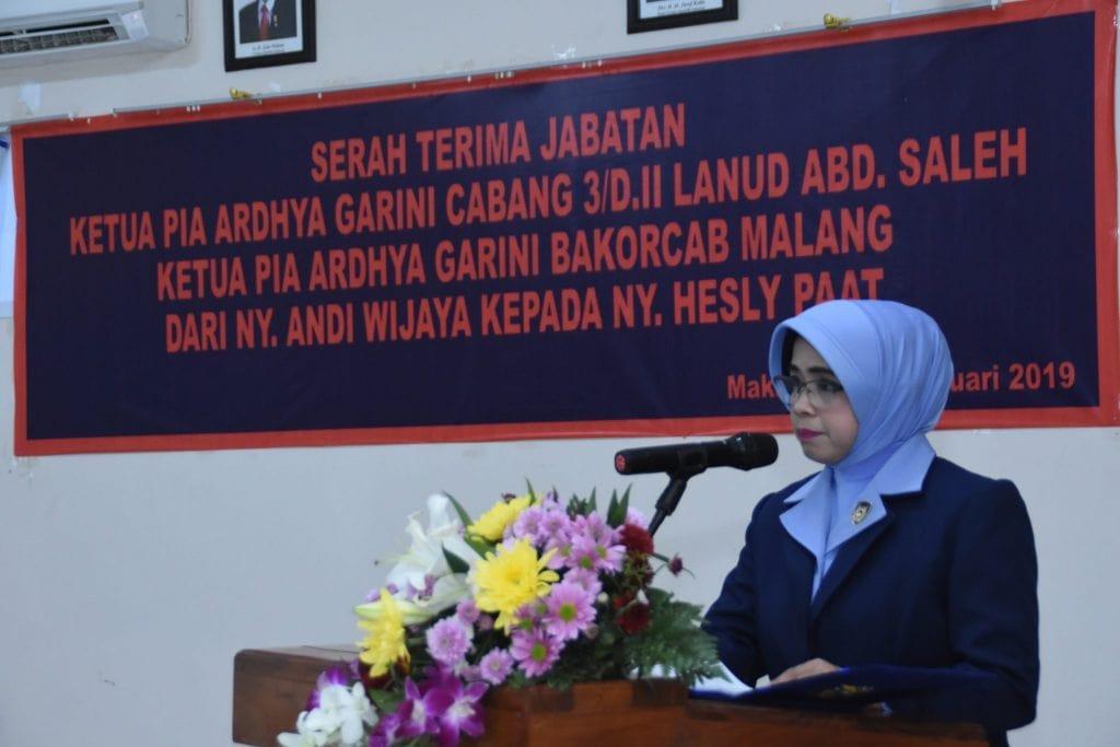 Sertijab Ketua PIA Ardhya Garini Cabang 3 Daerah II Lanud Abdulrachman Saleh