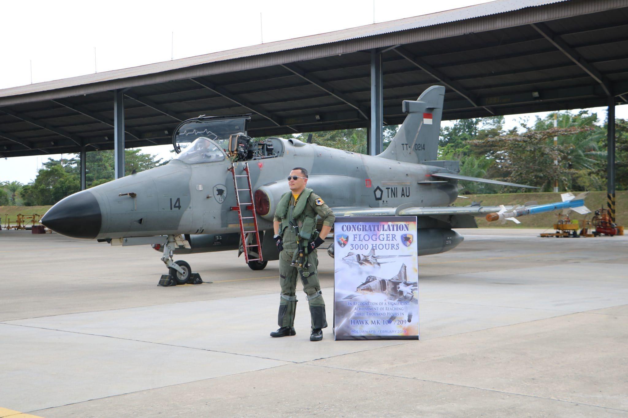 Komandan Skadron Udara 12 Raih 3000 Jam Terbang