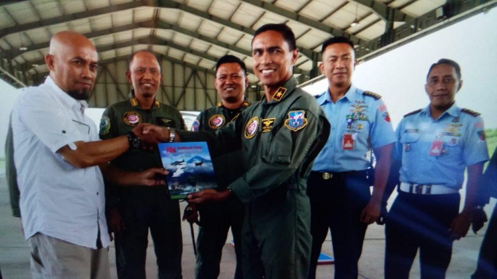 Komandan Lanud Abd Saleh Launching Buku Sejarah