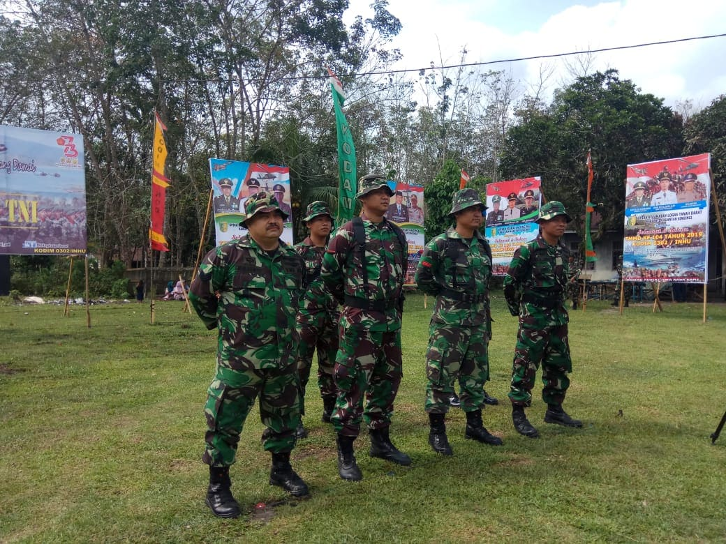 Personel Lanud Rsn Ikut Serta Laksanakan TMMD di Kab. Kuantan Singingi