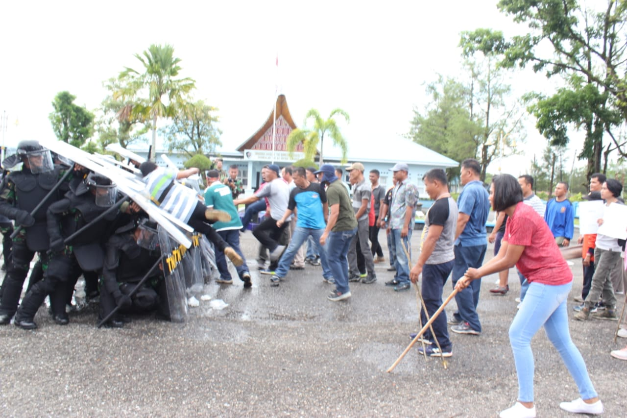 Antisipasi Kerusuhan Pemilu 2019, Lanud Sutan Sjahrir Gelar Simulasi Pengamanan